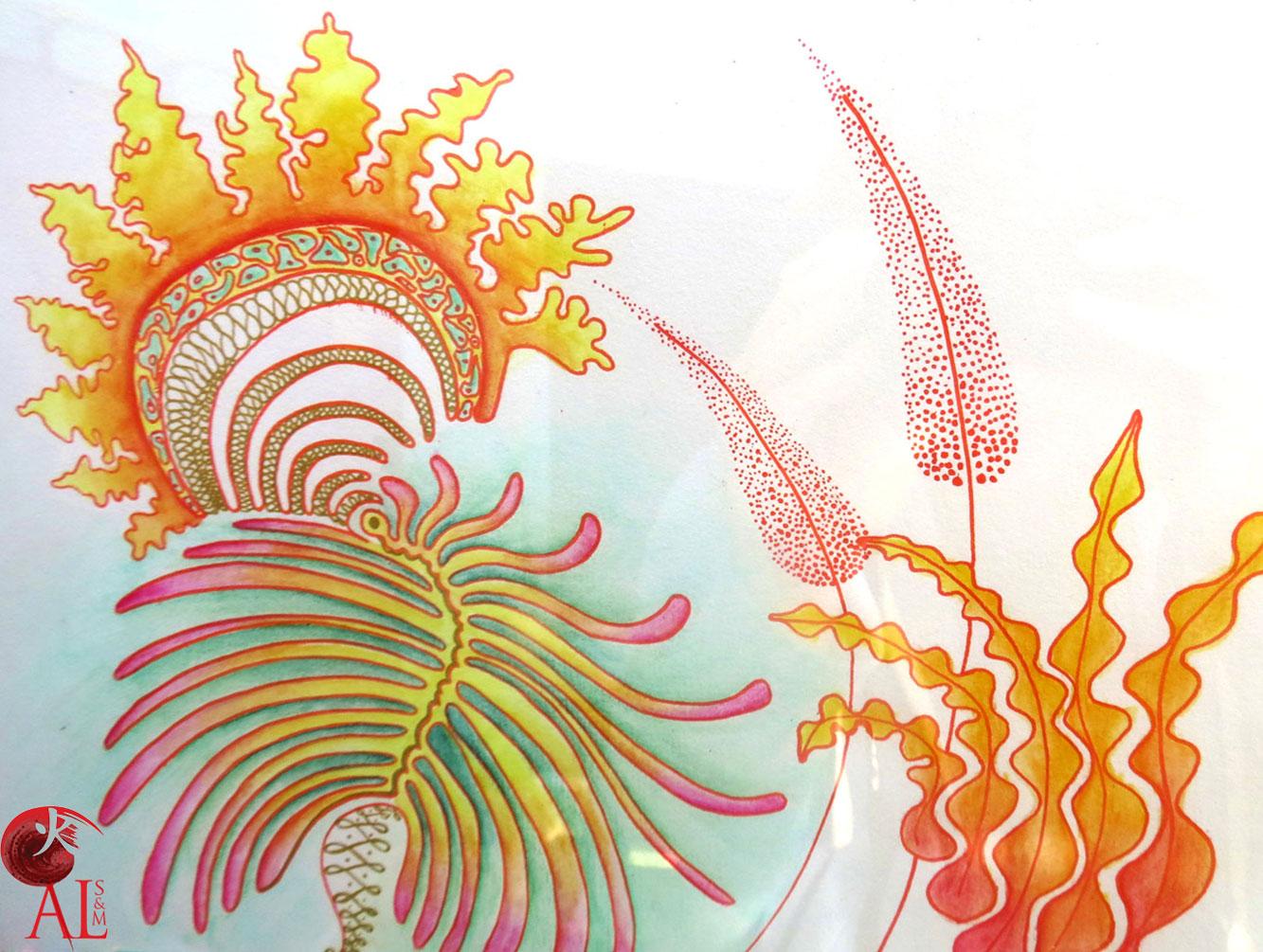 Soin & Créativité. Shiatsu & Mandala. Ballade des ateliers de chantenay 2015